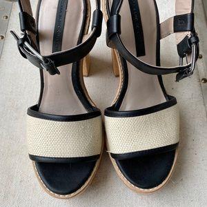 Zara Size 6.5 Block Heel